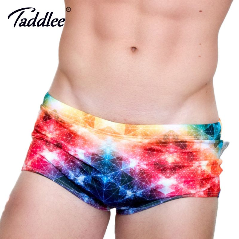 Taddlee Brand Sexy Men Swimsuits Brief Swimwear Bikini Low Rise Summer Men's Swimming Boxer Trunks Surf Board Bathing Suits Gay