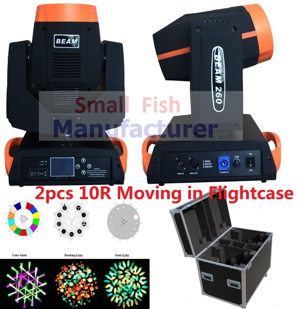 (2pcs/CASE) Spot Beam Wash 3in1 10R Lamp 260W Pointe Moving Head Light in Flightcase Professional Pinspot Projector Stage Lights