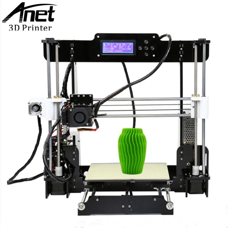 ANET A8 3d printer Reprap Prusa i3 precision 2 Kit DIY Easy Assemble Filament Machine+Hotbed+SD Card+LCD Screen Moscow warehouse