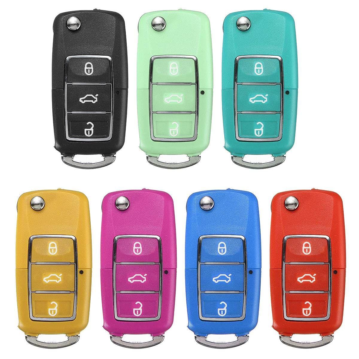 3 taste Key Fob Fall Shell Cover Ersatz Für VW Golf Passat Jeetle Jetta Polo Bora 71,7x34,3 x 17,5mm