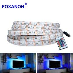 5 V Kabel USB Lampu LED Strip SMD 5050 2835 50 CM 1 M 2 M 3 M 4 M 5 M Natal Fleksibel LED Garis Lights Televisi Latar Belakang Pencahayaan