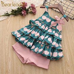 Bear Leader Girls Clothing Sets 2019 New Summer Girls Clothes Sleeveless T-shirt+Shorts 2Pcs Kids Clothing Sets For 3-7 Years