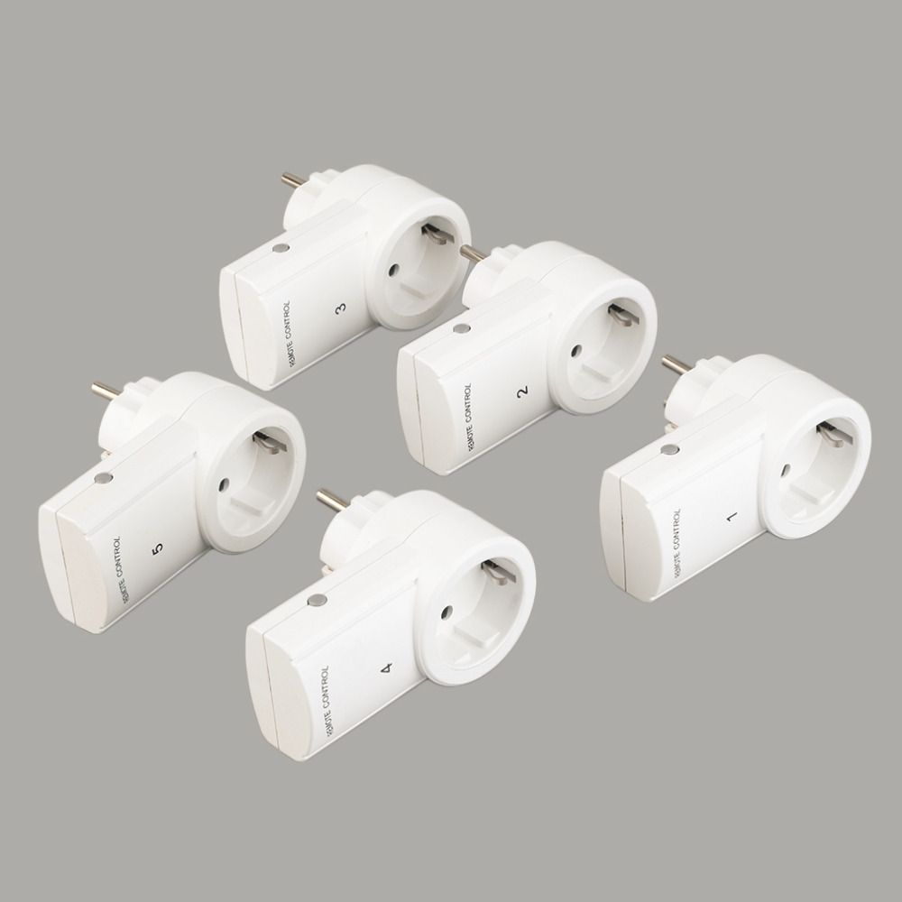 5 Wireless Remote Control Switches Mains Socket with Remote Control Electrical Plugs Adaptors Power Outlets EU Plug Hot Selling