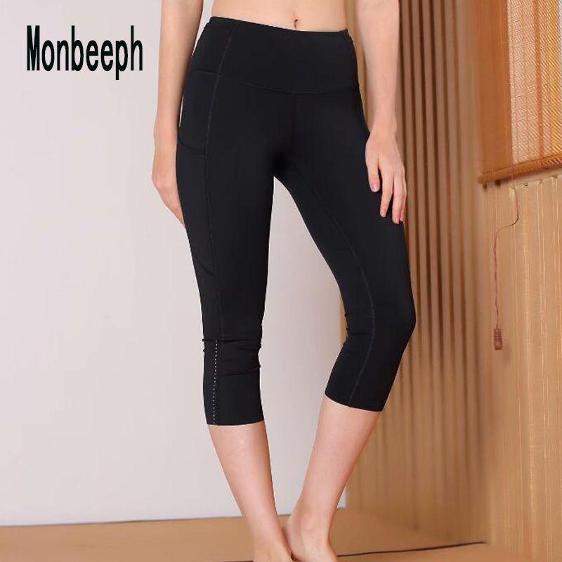 Monbeeph print leggings stretch waist pants capris pants Pencil skinny Pants black blue green wine red capris