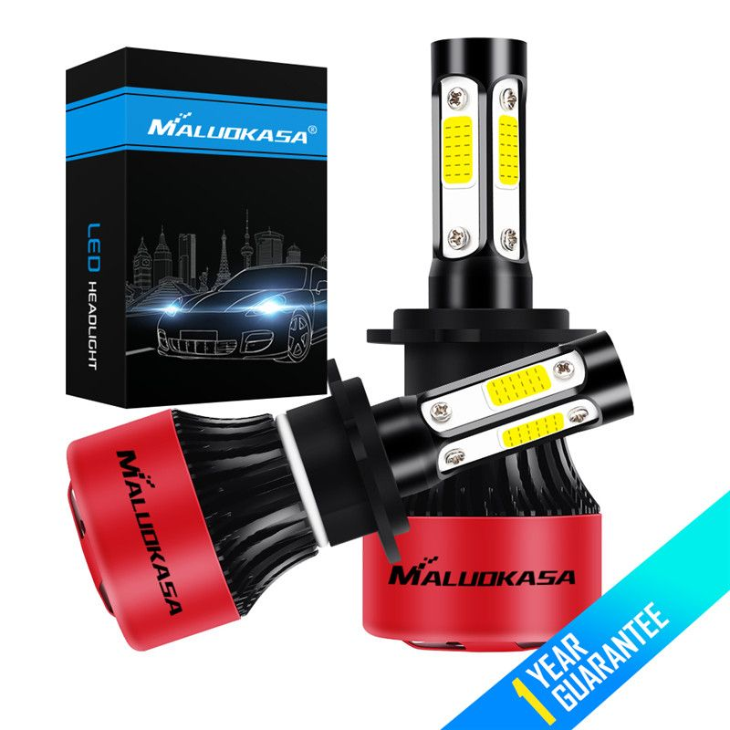 MALUOKASA 4 Side COB 100W/Pair 16000lm/set H4 Hi lo H7 H11 9005 9006 Car LED Headlight Bulbs Auto Led Headlamp Fog Light 12V 24V