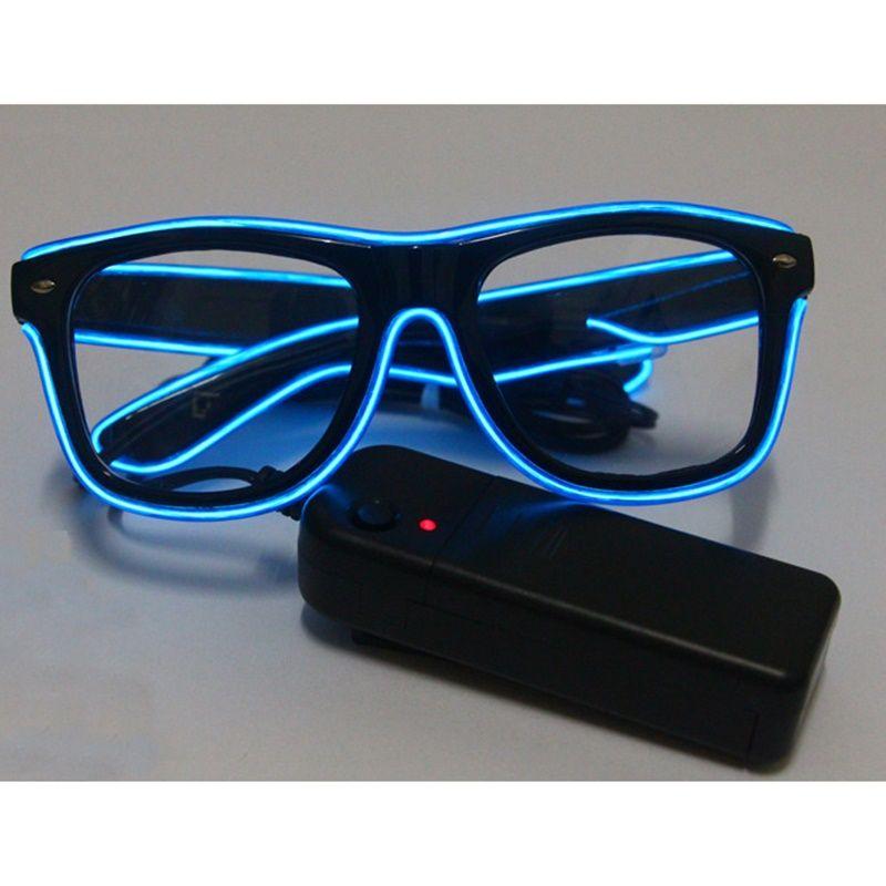 Mode LED EL Fil Lunettes Lueur Dans Le Foncé lunettes de Soleil Helloween Concert Parti led clignotant Lunettes Lunettes