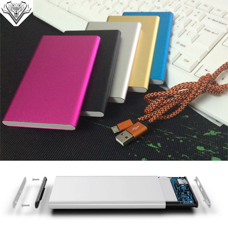 High Quality Super Slim polymer Power Bank 6000mah Powerbank External Battery Backup portable charger for all mobile phones