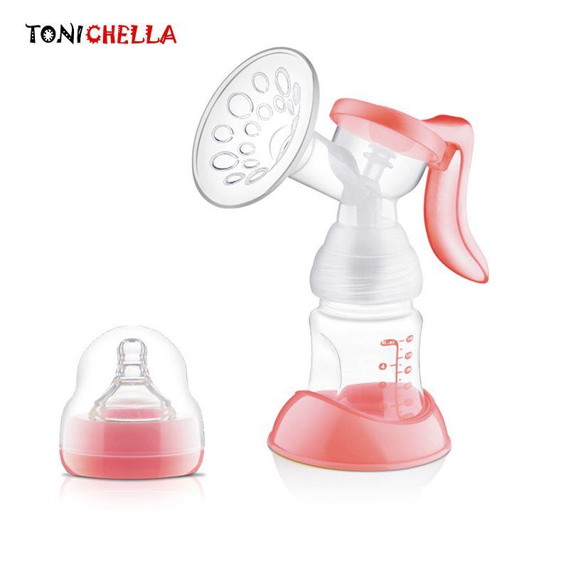 Extractor de Leche Manual de Leche Manual Bomba De Lactancia Original Silicio PP Libre de BPA Con Función de Extractores de leche Botella de Leche del Pezón T0100