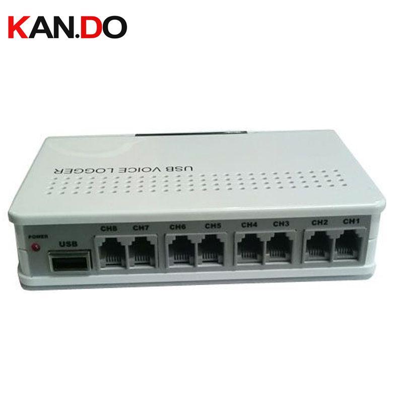 8 ch moniteur à distance activé par la voix USB enregistreur téléphonique entreprise utiliser moniteur téléphonique USB moniteur téléphonique USB enregistreur de téléphone