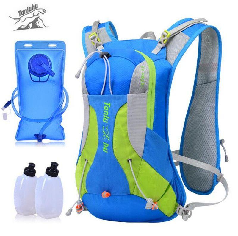 TANLUHU 15L Marathonlaufschuhe Rucksack langlaufschuhe Rucksack Outdoor-Sport Hydratation Pack 2L Wassersack Für Optional