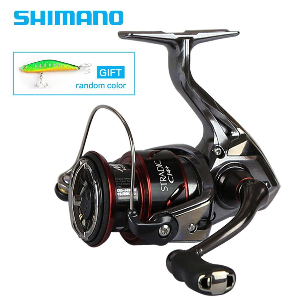 SHIMANO Original STRADIC CI4+ 1000 2500 C3000 4000 Spinning Fishing Reel 6+1BB 6.0:1/6.2:1 X-Ship MGL ROTOR Spinning