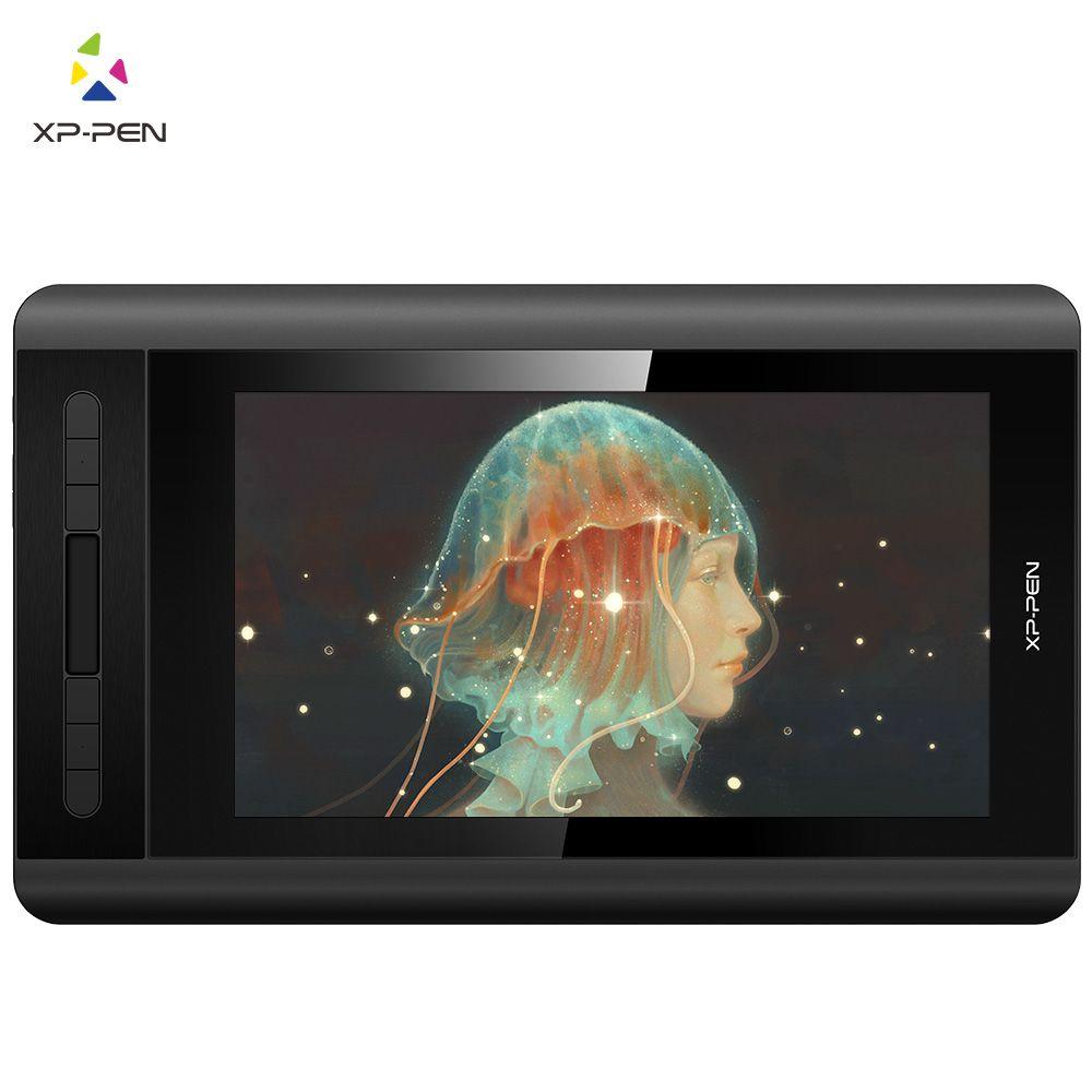XP-Stift Künstler 12 Zeichnung Tablet Graphic tablet Zeichnung Monitor 1920X1080 HD IPS mit Verknüpfung Tasten und touch Pad (+ P06)