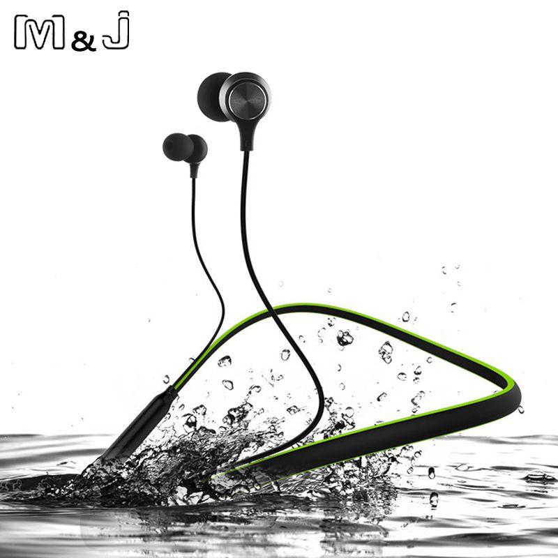 M & J HT1 sans fil Bluetooth écouteur 10 heures de jeu avec Microphone Sport stéréo V4.1 Bluetooth écouteur pour iPhone Android