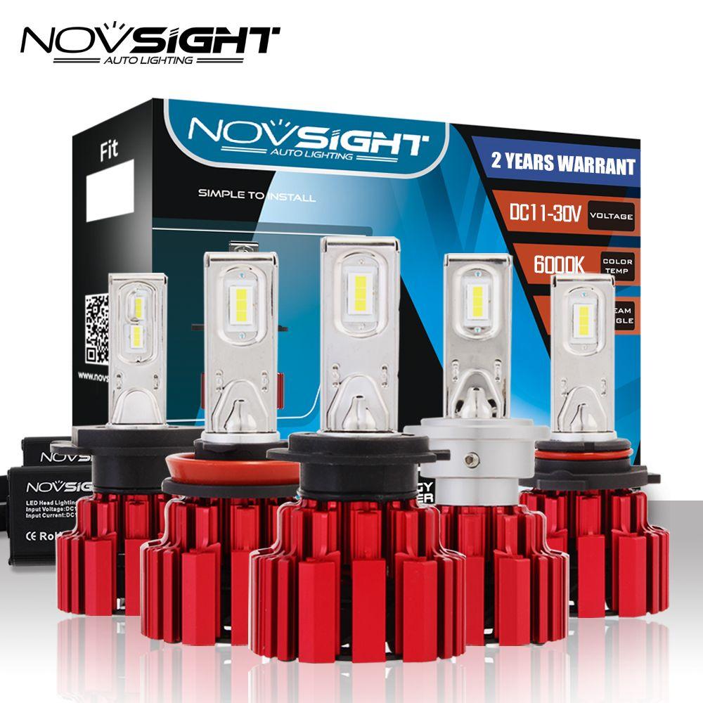 NOVSIGHT H4/9003/HB2 H13 9007 Hi/lo Beam D1 H7 H11 H15 9005 9006 LED Car Headlights 13600LM Led Fog Light Lamps Bulbs 6000K