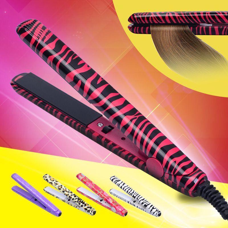 Free Shipping 2017 Mini Hair straightener Iron Ceramic Straightening Corrugate Curling Iron Styling Tools Hair Curler