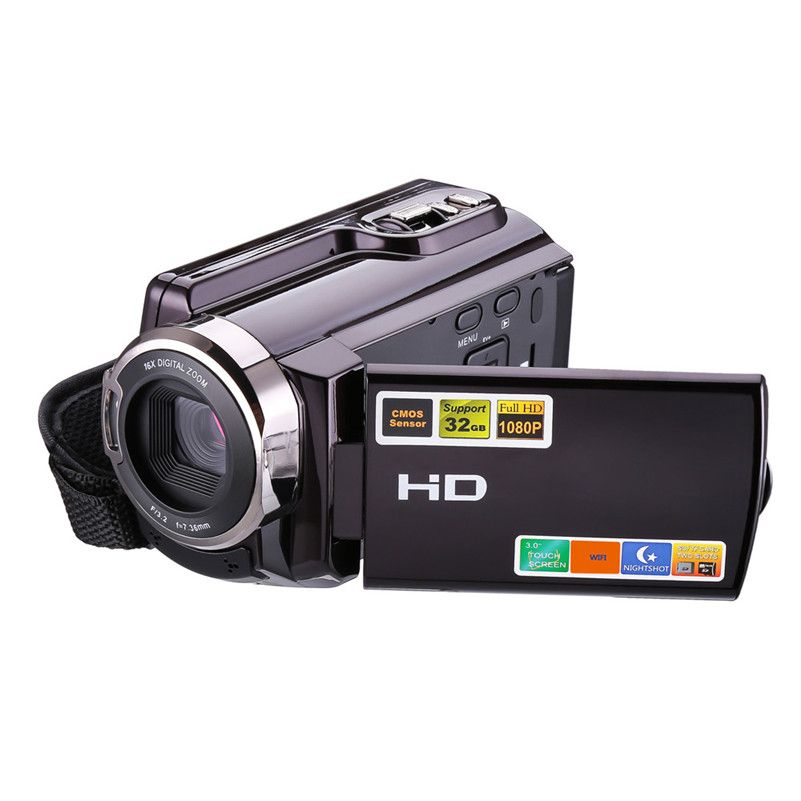 Night Vision Video Camera Support WIFI Transmission 1080P 16X Digital Zoom 3 Inch Touch Screen Portable LCD HDV Video Camcorder