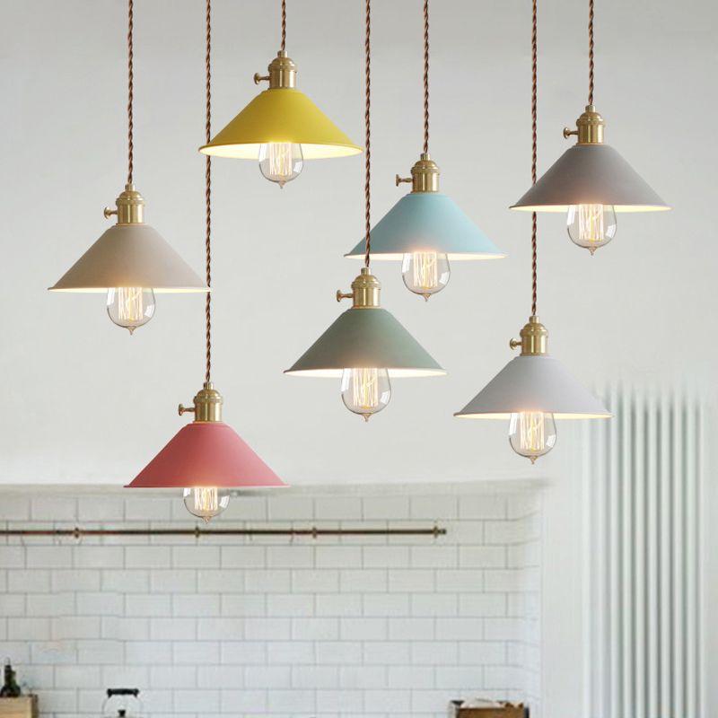 Interruptor moderno Luces Pendientes Comedor Luminaria Lamparas Luces Lámpara Colgante Colorido De la lámpara de Aluminio Para la Iluminación del Hogar