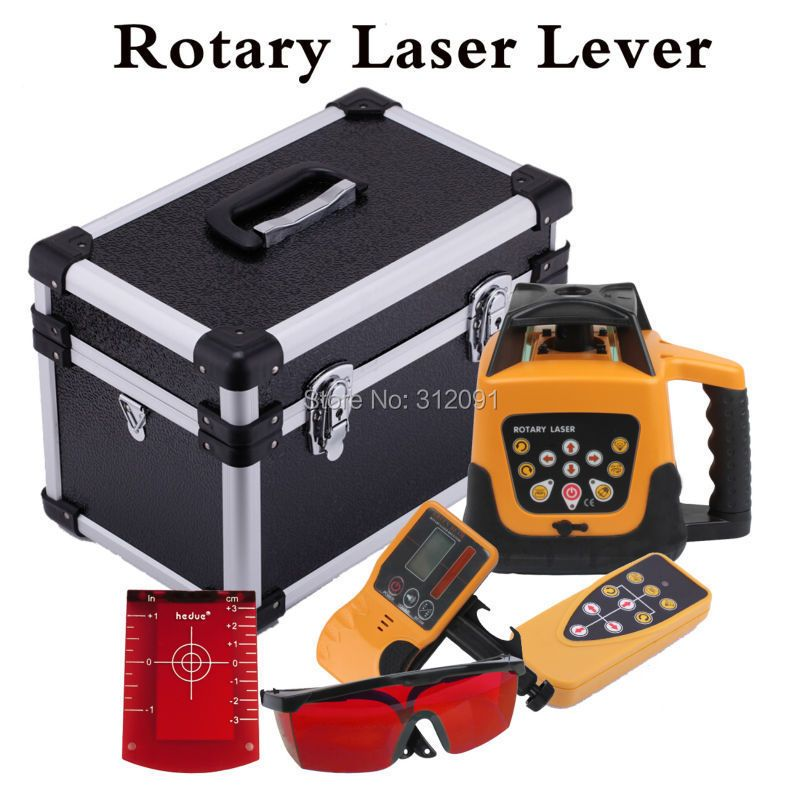 (Ship from DE) Automatic Red Beam Rotary Rotating Laser 500m Range Self-leveling Rotary Laser Level Remote Control with Case