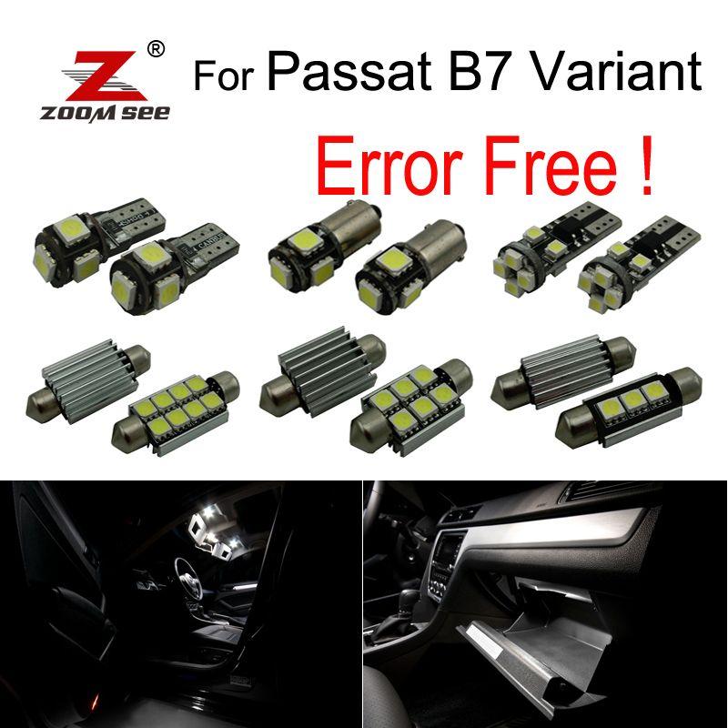 18 pièces LED dôme intérieur carte lecture lumières Kit ampoule pour Volkswagen Passat B7 Variant version break (365) seulement (2011-2014)