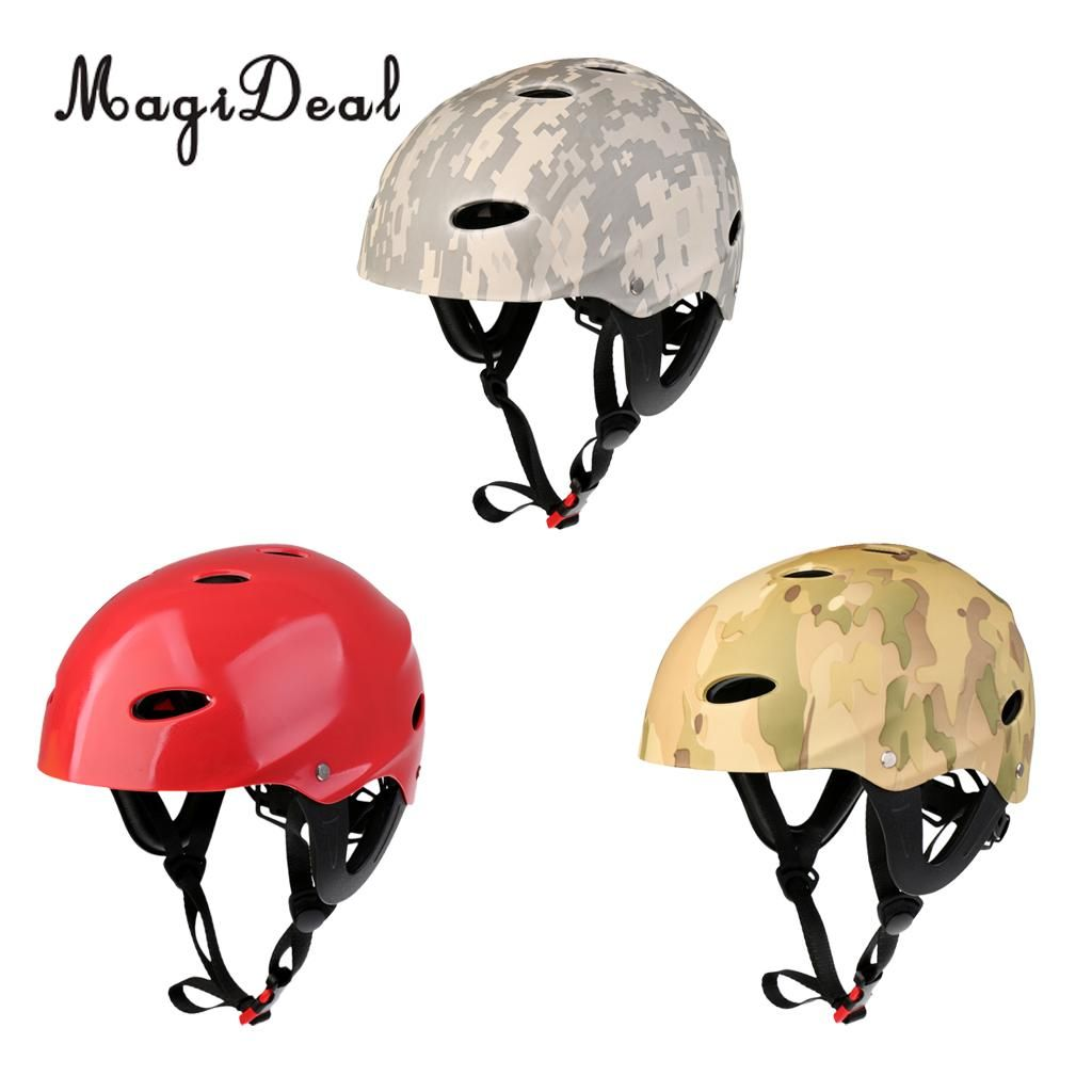 Magideal Adjustable Water Sport Safety Waterproof Helmet for Kayaking Canoeing Wakeboarding Paddleboarding Boating Surfing Acce