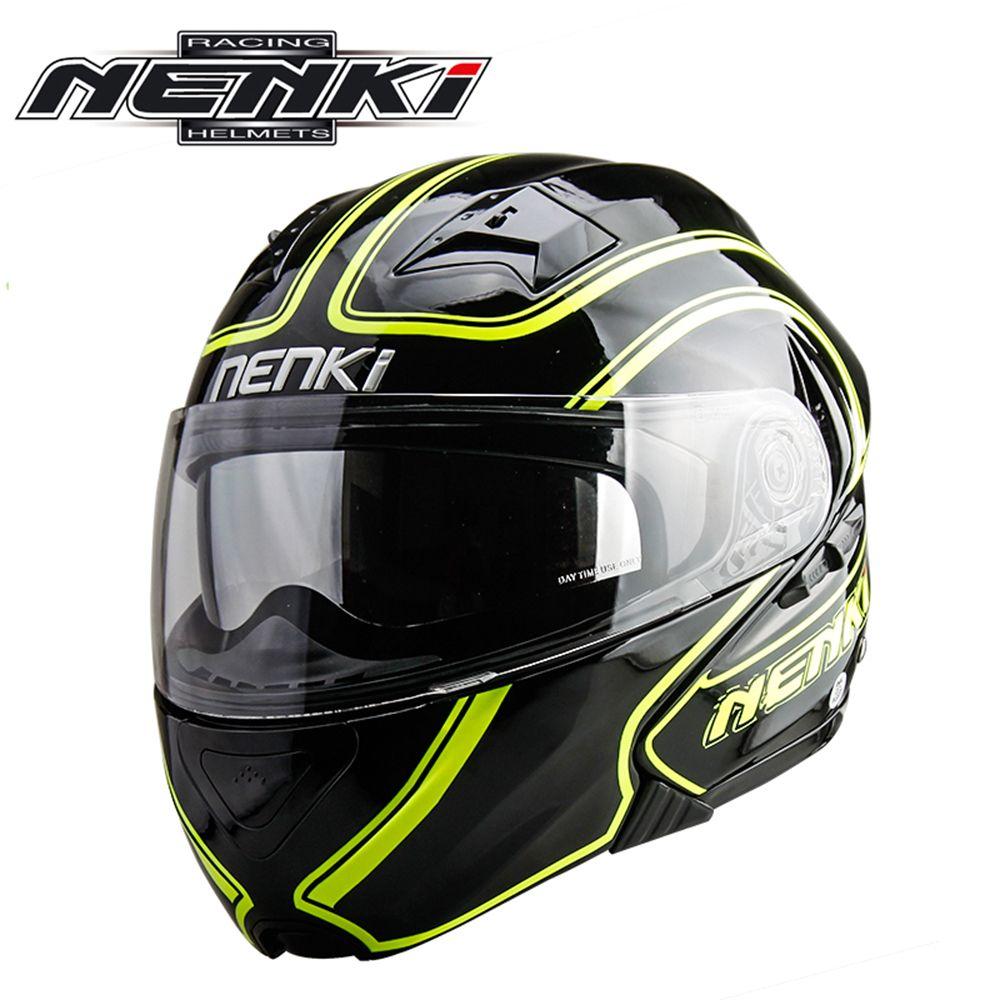 NENKI Motorcycle Helmet Flip Up Helmet Open Face Moto Helmet Double Lens Motociclista Dirt Bike Helmet Casque Four Seasons 815