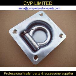 Alta calidad empotrada abajo, cubierta, anillo de amarre, cuerda anillo d de amarre de punto ancla remolque partes Accesorios