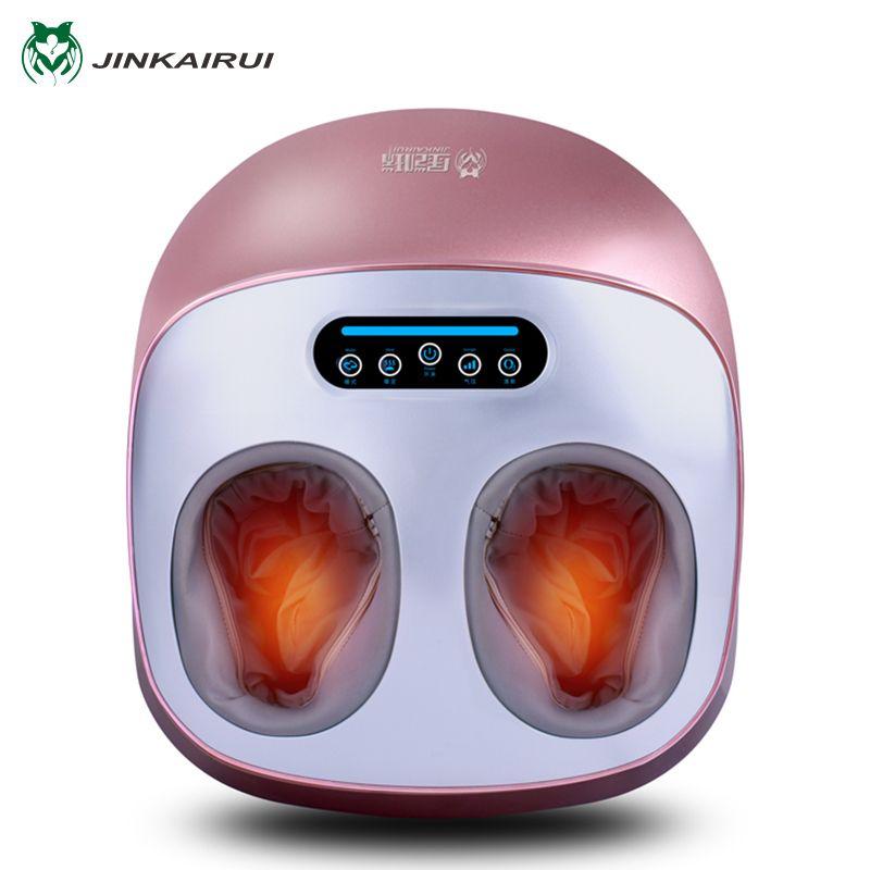JinKaiRui Electric Vibrator Foot Massager Health Care Massage Infrared Heating Therapy Shiatsu Kneading Air <font><b>Pressure</b></font> Machine