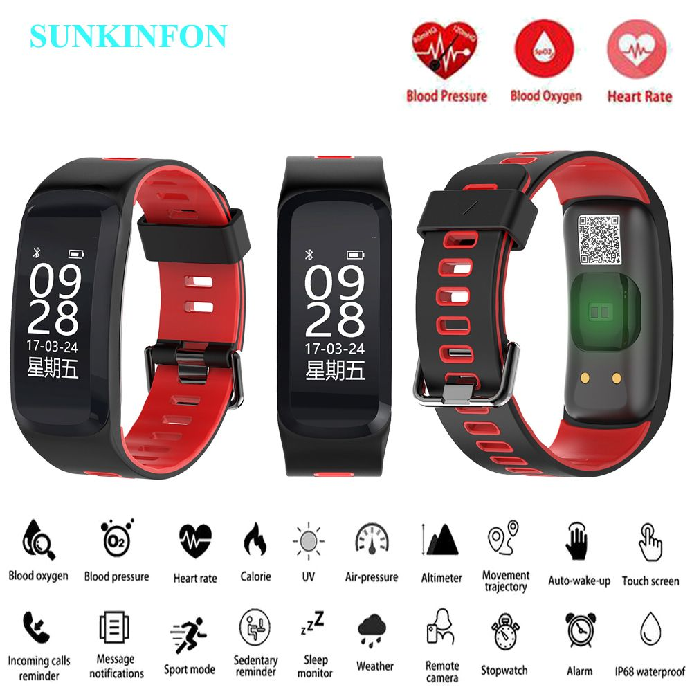 F6 Smart Watch Bracelet Blood Pressure Oxygen Heart Rate Monitor Fitness Tracker Smart Wristband for Samsung Galaxy S6 S5 S4 S3