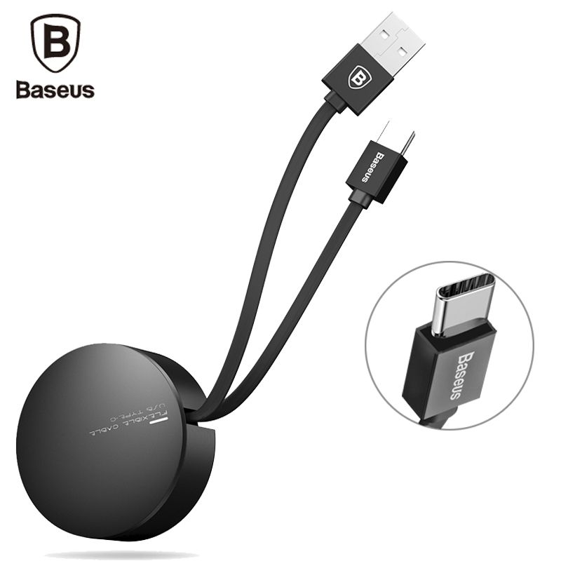Baseus USB Type C Cable Retractable Type-c Cable For Huawei P10 Plus Samsung Galaxy S8 Plus Xiaomi Mi6 Mi5 Charger USB C Cable