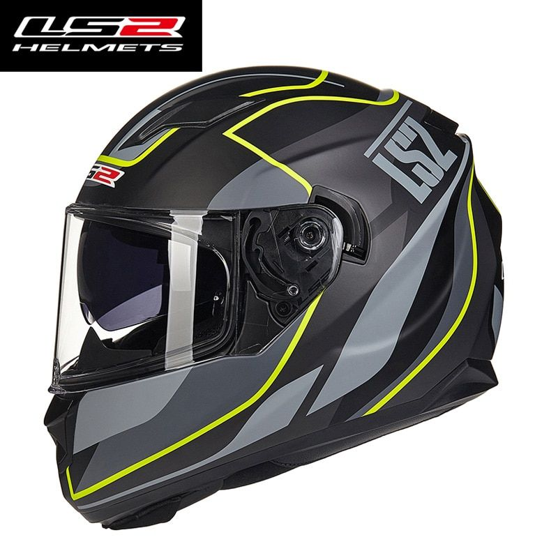 LS2 ff328 full face motorcycle helmet for man woman with sun shield lens Racing motorbike helmet DOT approve LS2 moto Capacete