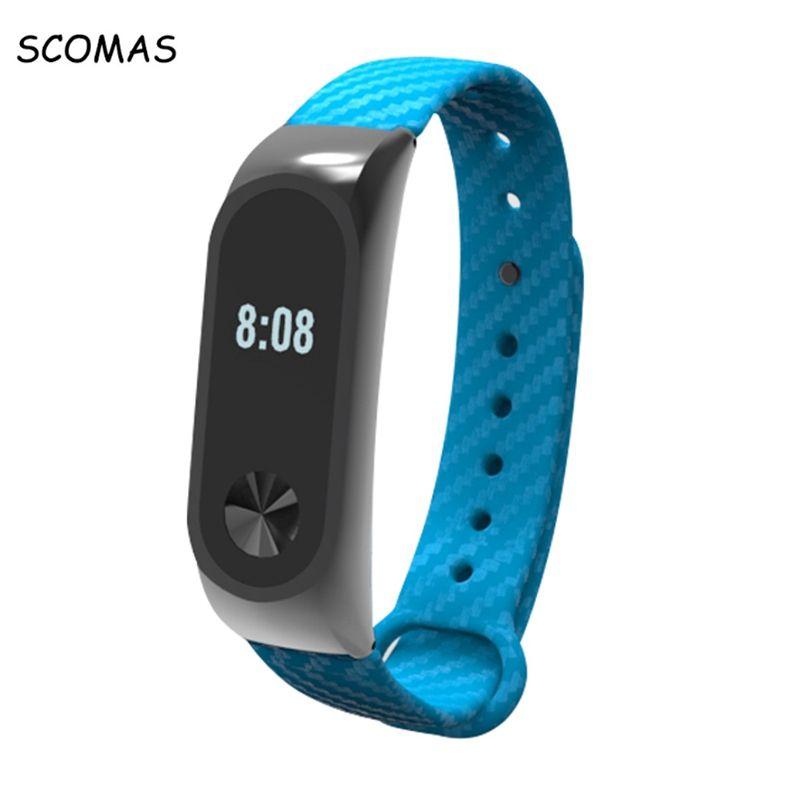 SCOMAS Silikon ersatz Carbon Band XIAOMI Band 2 Smart Armband Smart armband für XIAOMI MI BAND 2