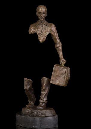 Copper Brass Hombre de modern abstract sculpture figure statues sculpture for home modern studio modern gallery Viaje del Alma