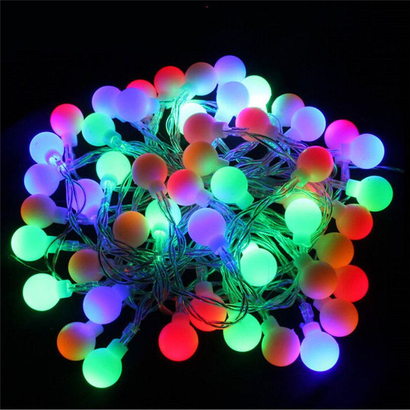 ECLH 5M 40 LED RGB garland String Fairy ball Light For Wedding Christmas holiday decoration lamp Festival outdoor lighting 220V