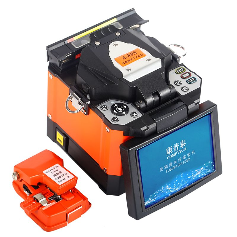 COMPTYCO A-80S Automatic Intelligent Optical Fiber Fusion Splicer FTTH Fiber Welding SM/MM