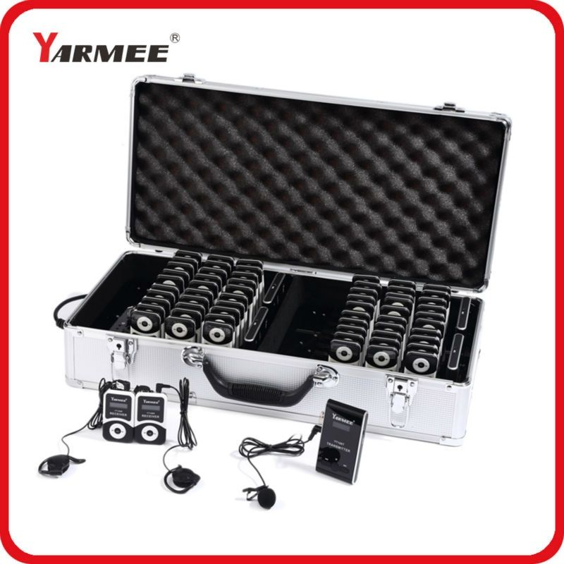YARMEE Hot Selling Wireless Tour Guide System ( 4T/60R) With 40PCS Charging Cable (4 micro mini USB in 1 USB) YT100
