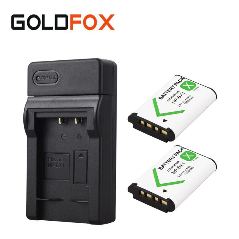 2x1350 mAh Bateria NP-BX1 NP BX1 Batterie + Chargeur USB pour Sony DSC RX1 RX100 M3 M2 RX1R GWP88 PJ240E AS15 WX350 WX300 HX300 HX400