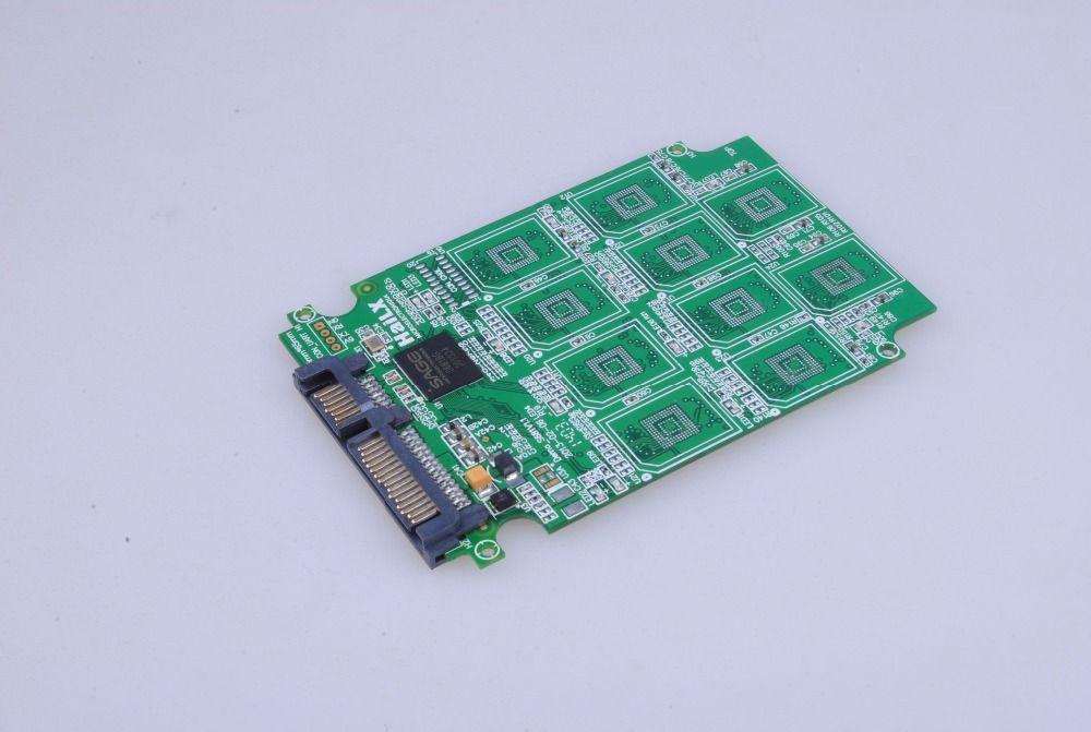 10 ports Micro SD TF Memory Card to SATA SSD Adapter with RAID Quad 2.5