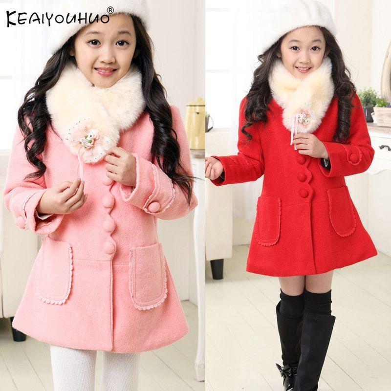 KEAIYOUHUO 2018 manteaux d'hiver pour filles vestes veste en coton vêtements d'extérieur pour enfant Long Style filles manteaux 3 4 5 6 7 8 9 10 11 12 ans