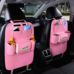 Автокресло сумка органайзер, шерстяной фетр спинки сиденья протекторы для детей, бутылки для хранения, коробка ткани