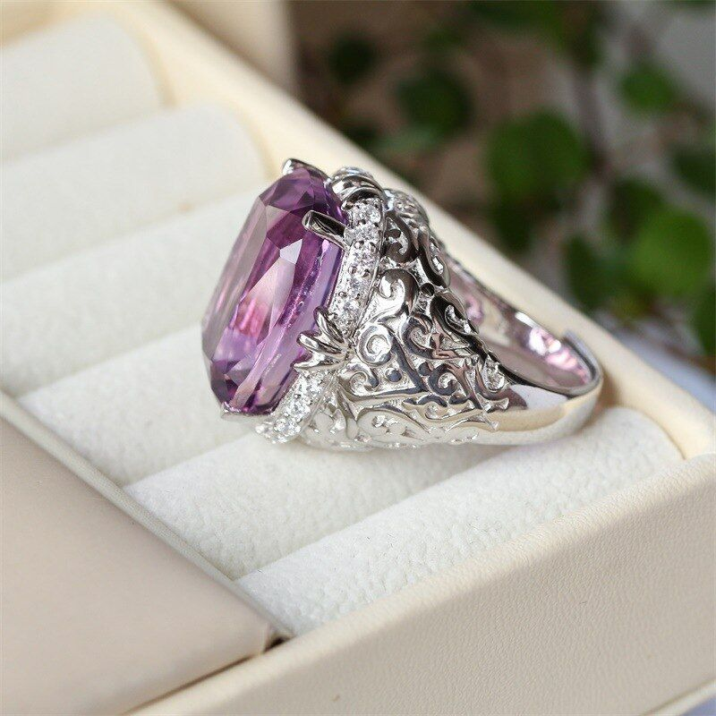 TYME Gem crystal ring fashion Semi-precious stones Ring Jewelry 925 silver gold wedding ring for women