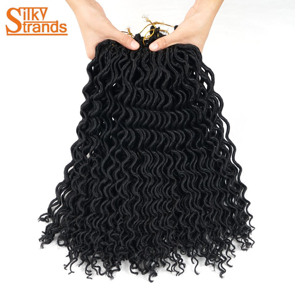Silky Strands Crochet Braids Faux Locs Crochet Hair Extensions Synthetic Crochet Locs Hair Braid 18inch Blonde Hair