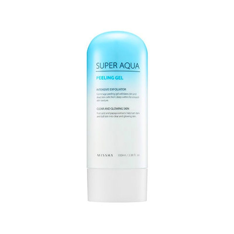 MISSHA Super Aqua Peeling Gel 100ml Facial Cleanser Natural Facial Exfoliator Exfoliating Face Scrub Removal