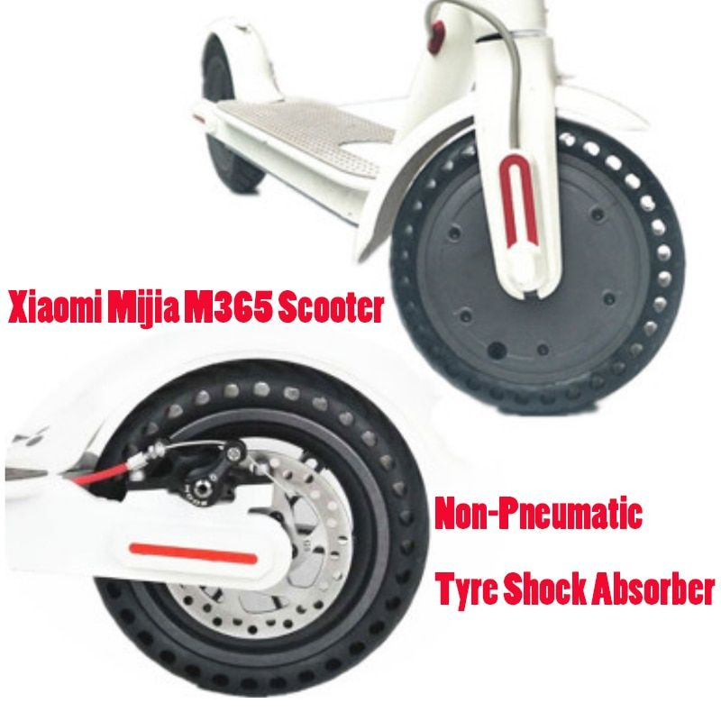 Xiaomi Mijia M365 Scooter <font><b>Skateboard</b></font> Solid Hole Tires 21cm Avoid Non-Pneumatic Tyre Shock Absorber Porous Damping Tyres Wheels