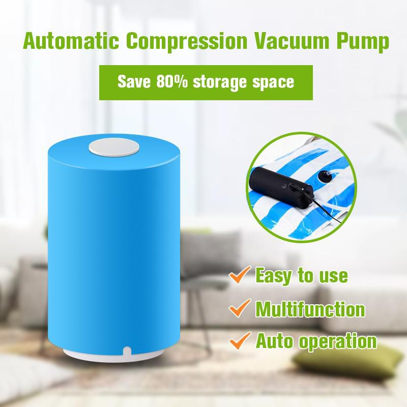 Dropship USB Mini Automatic Vacuum Compression Sealer Suction Pump Househoud Snack Fresh Food Rod Strip Kitchen Tool with Clamp
