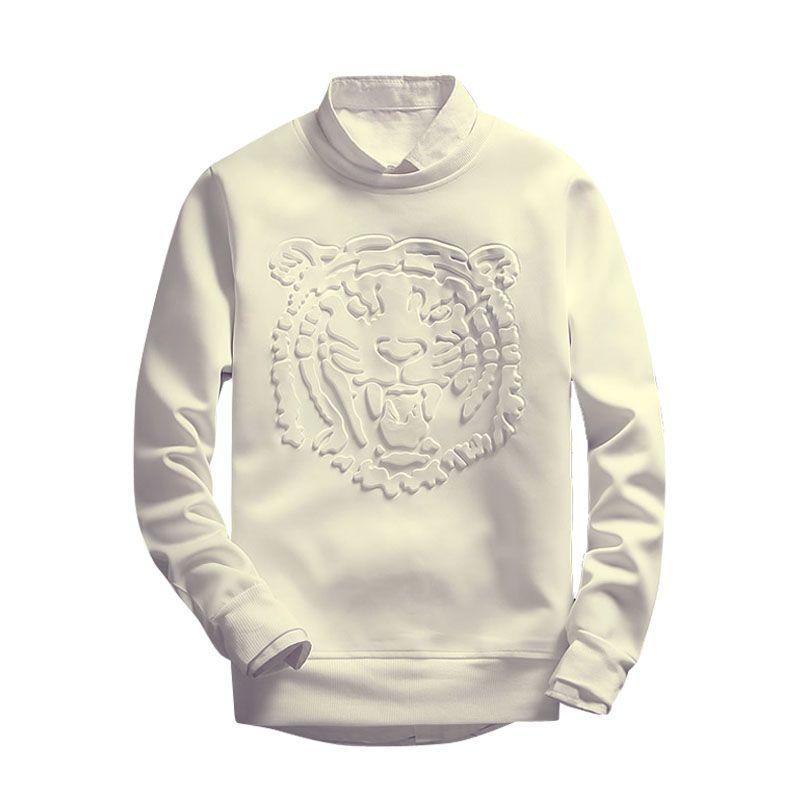 2016 New fashion men hoodies print tiger head hoodies tracksuits high quality Harajuku sweatshirt mens Sudaderas Hombre