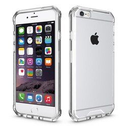 Transparent Antichoc Cas Pour iPhone 6 6 s 7 8 Plus TPU & PC de Silicone Transparent Soft Couverture de Téléphone iPhone 8 cas Noir Rose Coque