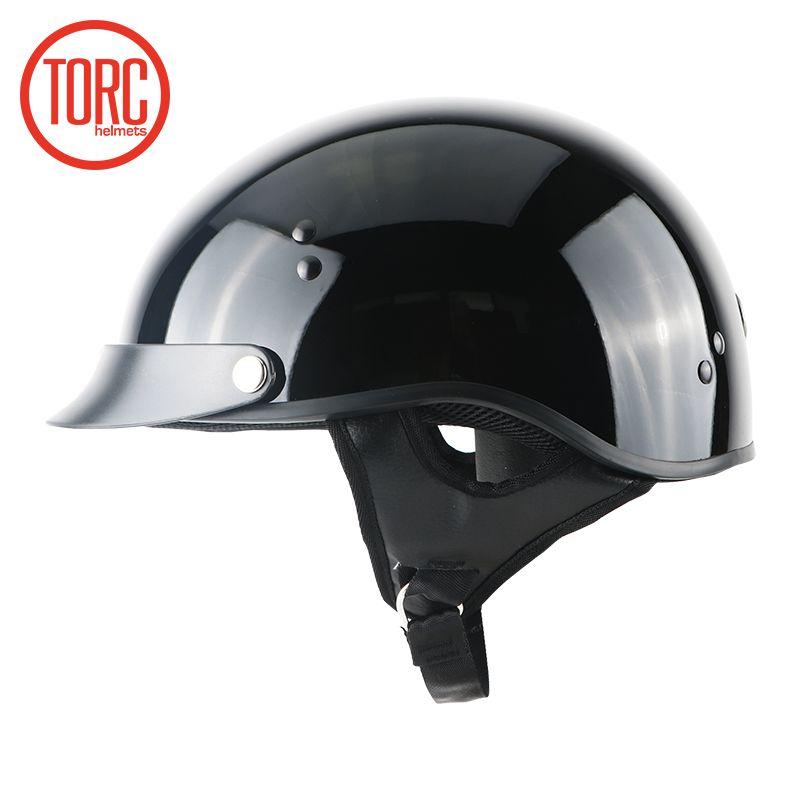 TORC moto rcycle casque classique helemet vintage été demi casque jet rétro capacete casque moto casque DOT T55.02