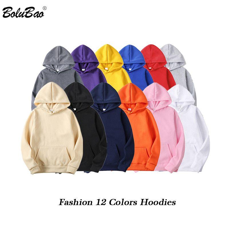 BOLUBAO marque de mode hommes sweats à capuche 2019 printemps automne mâle décontracté sweats à capuche hommes couleur unie sweat à capuche hauts