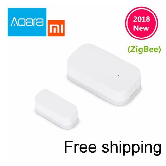 2018 Xiaomi Aqara Door Window Sensor Zigbee Wireless Connection Smart Mini door sensor Work With Android IOS App control