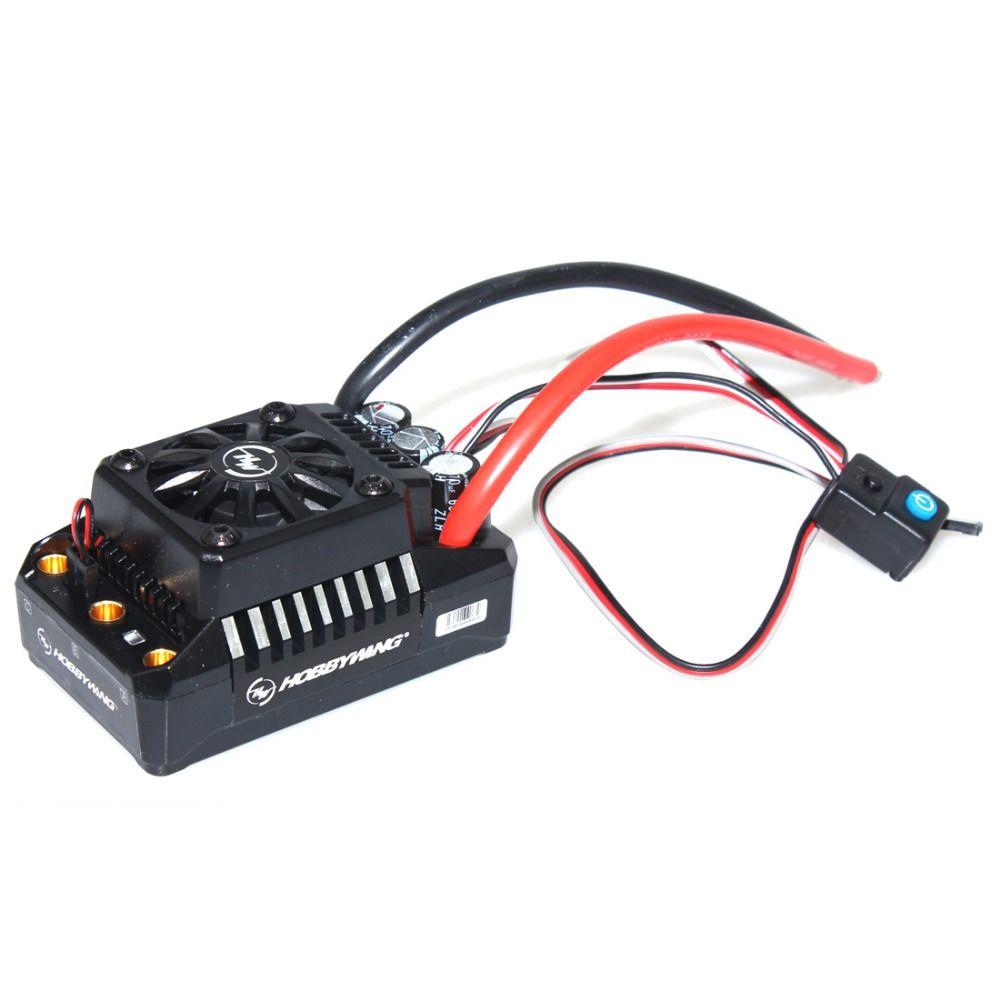 Hobbywing EzRun Max6/Max5 V3 160A/200A régulateur de vitesse étanche sans balais ESC pour 1/6 1/5 RC voiture camion sur chenilles F17810/11